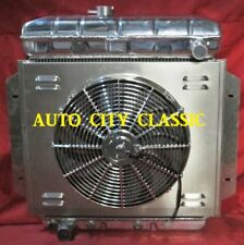 1957 1958 1959 1960 FORD  RADIATOR PICKUP TRUCK F-100 ALUMINUM WITH SHROUD & FAN