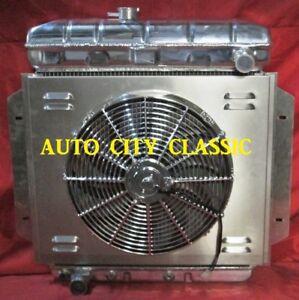 Ford Pickup Truck F-100 Aluminum Radiator w/Shroud & Fan 1957 1958 1959 1960