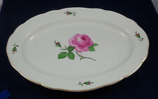 Antique Large  Meissen Rose Turkey Platter 19 Inches  - Excellent Condition