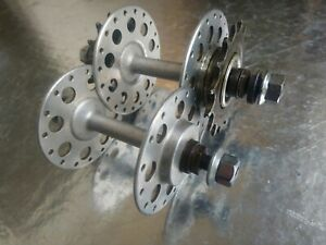 Vintage Bayliss Wiley Large Flange Hubs Double Fixed 1940's 50's British bicycle