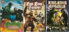 Three King Kong & Godzilla Dvds For The Price Of One! Rare Chance Not Bootlegs