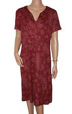 C018 - K-Studio Ladies Burgundy Floral Evening Day Dress - UK 20