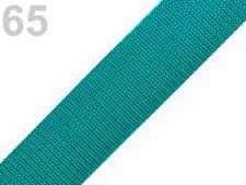 2 METER Gurtbänder Gurtband Bänder Band  40 mm petrolgrün (Grundpreis: 1,20€/m)