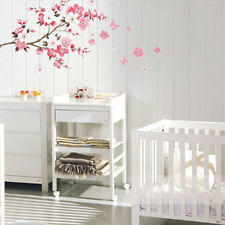 Removable Flower Butterfly Cherry Peach Blossom Wall Sticker Wall Home Decor