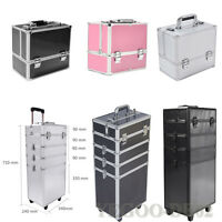 Panana 4 in 1 Large Makeup Case Hairdressing Vanity Beauty Cosmetic Box Trolley