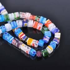 100pcs Mixed 6mm Cube Millefiori Lampwork Glass Loose Beads Lot Jewelry Making