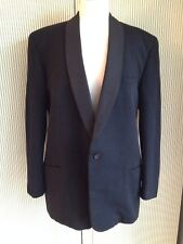 Mens 1960s Simpson/Daks 100% Wool Barathea Shawl Collar Dinner Jacket/Tuxedo 40R