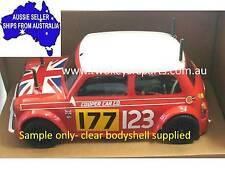 Classic Mini Cooper Clear Lexan Body Shell fo 1:10 RC MINI Tamiya M06 M05 - Colt