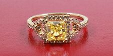 14K Yellow Gold 2.10 TCW FANCY YELLOW  Princess Cut Engagement & Wedding  RING