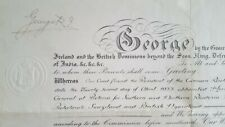 King George V Signed Autograph Royal Commission Appointment Document Germany