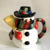 Vintage Current Inc Snowman Ceramic Frosty Teapot