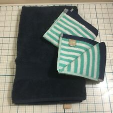 POTTERY BARN TEEN Navy Hand Towel + (2) Washclothes - NWOT - Bathroom - College