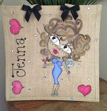 Personalised Jute Bag 32cm x 32cm Birthday 16th 18th 21st 30th 40th