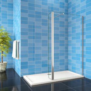 8mm NANO Walk In Wet Room Shower Enclosure Glass Screen & Flipper Panel 1900H