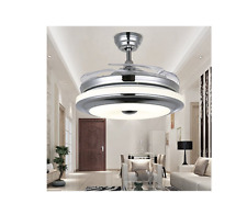 """42"""" Modern Retractable Dimmable LED Ceiling Fan Lamp w/ Light Remote Control"""