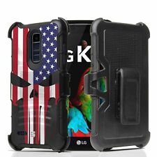 For ZTE Blade Spark Z971,Grand X4 Armor Holster Clip Case Punisher USA