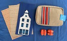 New KLM Airlines Amenity Kit Dutch Shoes Salt Pepper Shakers Jantaminiau Delft