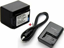 BP-727 Battery & Charger for Canon LEGRIA HF R48 HF R56 HF R57 HF R306 HF R406