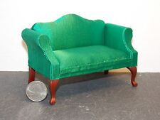 Dollhouse Miniature Queen Anne Loveseat Green 1:12 Inch Scale G59 Dollys Gallery
