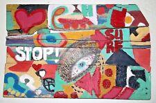Reclaimed Barn Wood Pallet Wall Art Funky Urban  Nyc Loft Modern Eclectic Pop