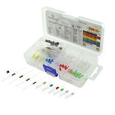 Superhelle LED-Sortiment Set (3 mm) mit Vorwiderständen & Doku min. 130 St. LEDs