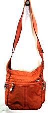 EBAGS Orange Crossbody Handbag Flap Nylon Travel Media Pockets Small