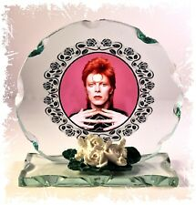 David Bowie, In The Pink, Cut Glass Round Plaque memorabilia Limited Edition  #4