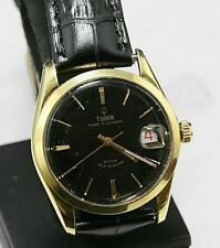 SWISS MADE Vintage TUDOR PRINCE OYSTERDATE Small Rose Automatic  Black Dial 34mm