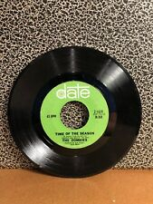 """THE ZOMBIES 45RPM 7"""" Single Date Records """"Time Of The Season"""" (J58)"""