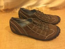 Clarks Privo 75332 Brown Leather Slip On Driving Loafer 10 10M Worn Once EUC