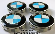BMW Blue & White Alloy Wheel Center Cap Badge Emblems 68mm 10 Pin Clip