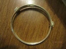 Two or 2 knot African Elephant hair style Bracelet sterling  silver