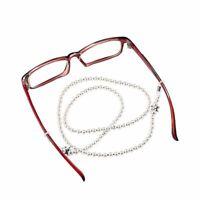 Imitation Pearls Eyewear Chain Handmade Elegant Rope Beaded Reading Glasses Cord
