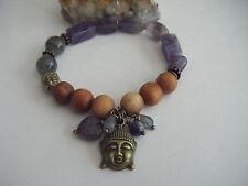 Highly Spiritual Amethyst Sandalwood Bracelet Buddha Labradorite 3rd Eye Chakra