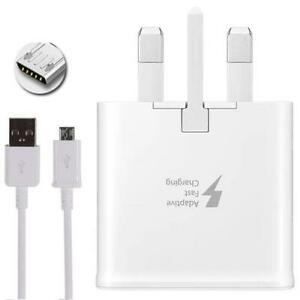 GENUINE FAST CHARGER PLUG & CABLE FOR SAMSUNG GALAXY S7 S6 S4 J3 J5 A5 uk