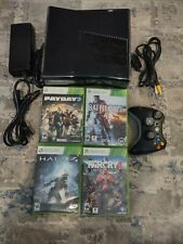 Microsoft Xbox360 S 250 Gb Console With Games Tested Authentic Working Usa