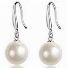Perlen Ohrringe Süßwasser Zuchtperlen Ohrhänger  925-Silber pl.  - EDEL