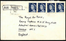 Australia 1969 Commercial Airmal Cover To UK #C43023