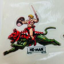 Vintage 1984 Mattel Masters of the Universe Puffy Stickers He-Man Battlecat Rare