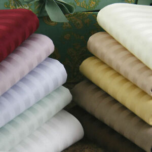 4 - Pic Bed Sheet Sets All UK Sizes and Striped Colour 1000 TC Egyptian Cotton