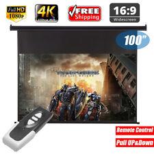Excelvan 100 '' 16 9 Electric pantalla proyector HD Projector Screen 1080p