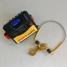 sony sport walkman cassette player wm-fs393 yellow am/fm With Accessories Works