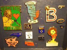 Lot of 13 LIONS CLUB INTERNATIONAL PINS, Attendance Awards, Ohio 13-B, NE, NC