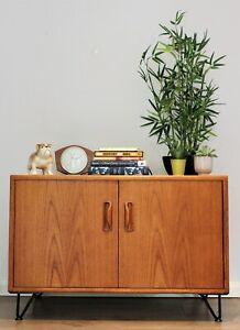 Vintage G Plan Sideboard cabinet Scandi Teak Hairpin legs Mid century