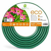 "1/2"" 15M REINFORCED GARDEN HOSE PIPE FOR PLANTS WATERING OUTDOOR - ECO"