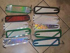 lot of 10 Hoochie moma salmon flashers