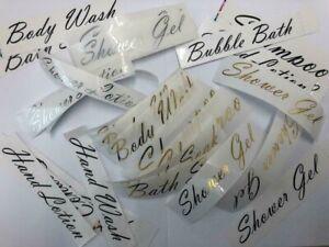 MRS HINCH INSPIRED STICKER LABELS FOR ,BATHROOM PUMP DISPENSER  BOTTLE 500ML