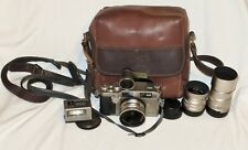 [NEAR MINT] Contax G2 Rangefinder Film Camera 21mm 45mm 90mm w/leather carry bag