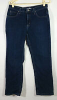 Riders by Lee Womens Jeans Size 12P Blue Classic Fit Straight Denim Dark Wash