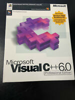 Microsoft Visual C++ 6.0 Professional Edition Retail Package NEW
